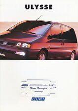 Fiat Ulysse Prospekt 10/94 brochure 1994 Autoprospekt Auto PKW Broschüre Italien