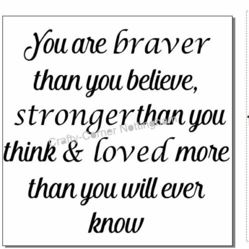 vinyl decal sticker glass block ikea frame You are braver then you believe