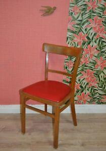 Vintage 50er Chaise Design Classique De Cuisine Rouge