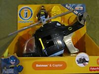 Fisher Price Imaginext Dc Super Friends Gotham City Batman & Black Copter Toy