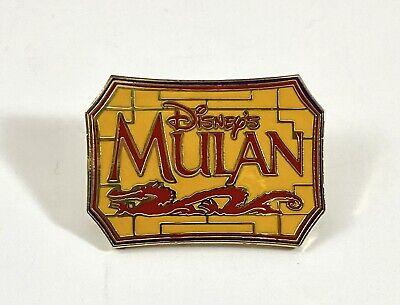 Disney Pin 2494 Disney S Mulan Movie Title Banner Pin Ebay