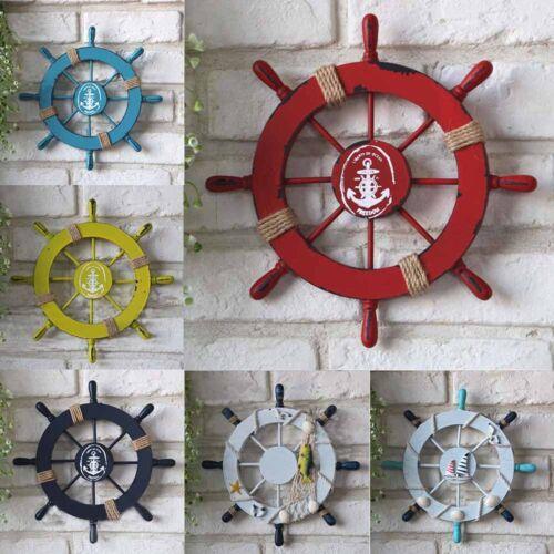 Wooden Ship Rudder Wall Hanging Nautical Boat Wood Crafts Miniature Rudder