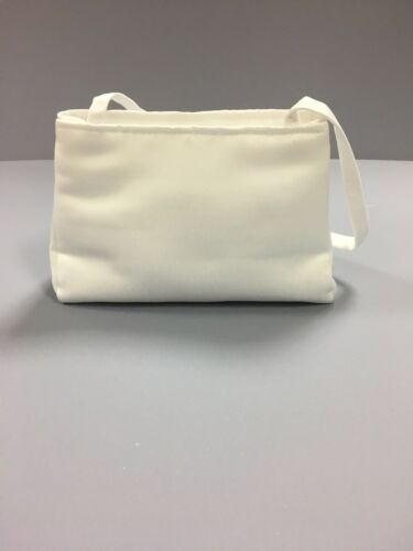 White Satin Bag With Pearl Cross Holy Communion Bridesmaid//Flower Girl BN