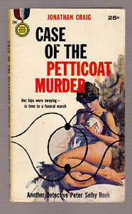 The-Petticoat-Murder-Jonathan-Craig-vintage-1958-Gold-Medal-784-GGA-sleaze-EX