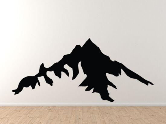 Landscape Decor - Mountain Range Silhouette Shadow Version 5- Vinyl Wall Decal