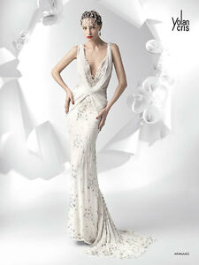 Image Is Loading Yolancris Wedding Dress Aranjuez Collection Boudoir Size S