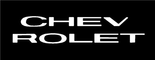 Sticker 1963 Chevy Truck Pickup CHEVROLET Grill Letters 63 Decal