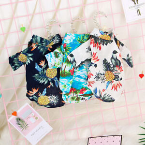 JAP-Pet-Dog-Hawaiian-Shirt-Beach-Clothes-Vest-Floral-Printed-For-Small-Large-Dog