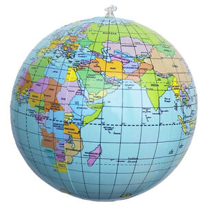 New inflatable world globe earth map teaching geography map beach image is loading new inflatable world globe earth map teaching geography gumiabroncs Images
