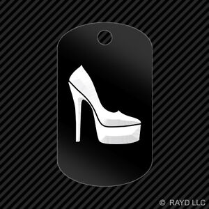 Stiletto-Heel-Keychain-GI-dog-tag-engraved-many-colors-2-sexy