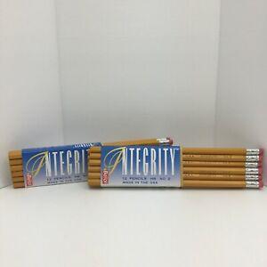 24-Count-Vintage-Berol-Integrity-Pencils-Made-In-USA-No-2-Wooden-Incense-Cedar