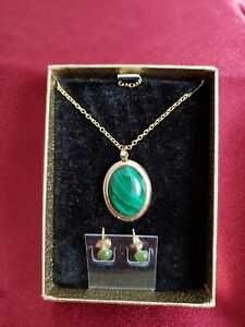 Natural-Brazilian-Cabbed-Chrysocolla-gold-plated-pendants-necklace-and-earnings