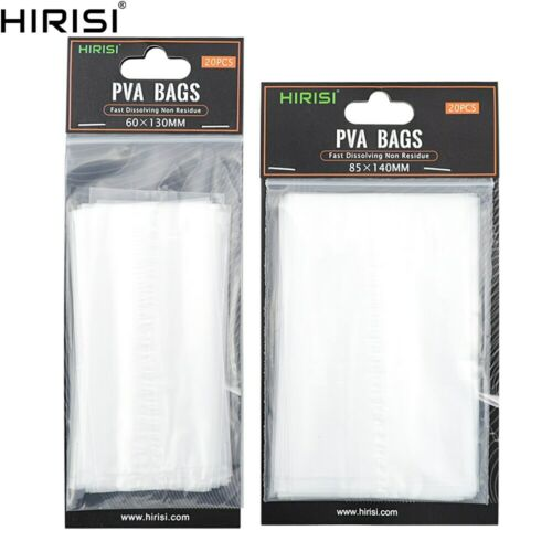 80 piece Carp Fishing PVA Bags for Fishing Tackle Accessories Size 60*130 85*140