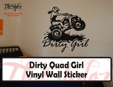 Dirty Quad Girl Rider Vinyl Wall Sticker