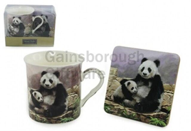 MacNeil (MATCHING) Panda Fine China Mug & Coaster
