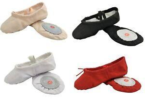 Ballet-Canvas-Dance-Yoga-Gymnastic-Shoes