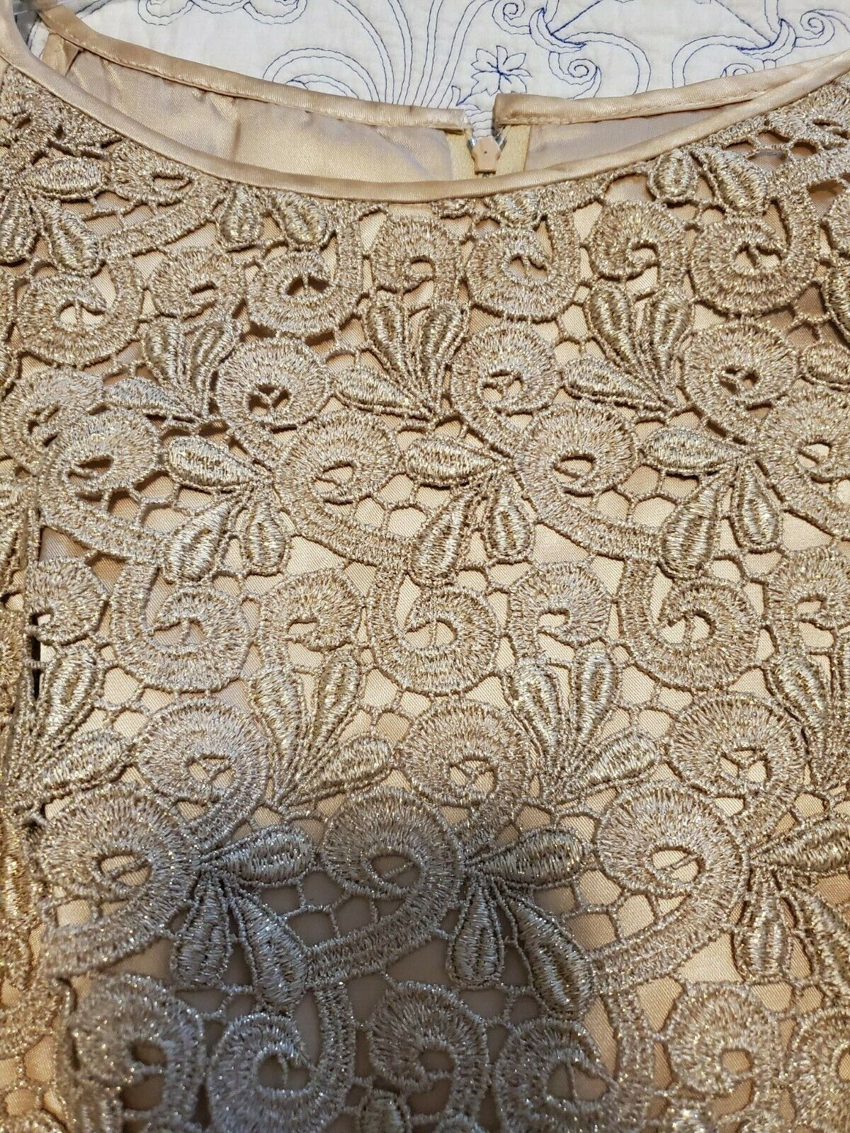 jessica mcclintock Dress Womens Size 8 Gold with … - image 2