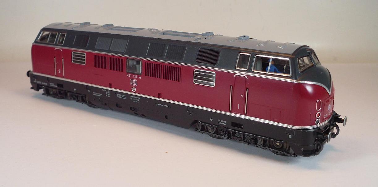 Fleischuomon h0 4235 DIESEL BR 221 1316 delle ferrovie federali tedesche OVP  3196