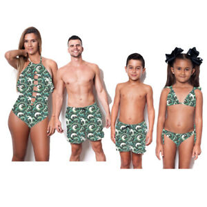 2269518e63 Image is loading Family-Matching-Women-Men-Kids-Baby-Girls-Bikini-