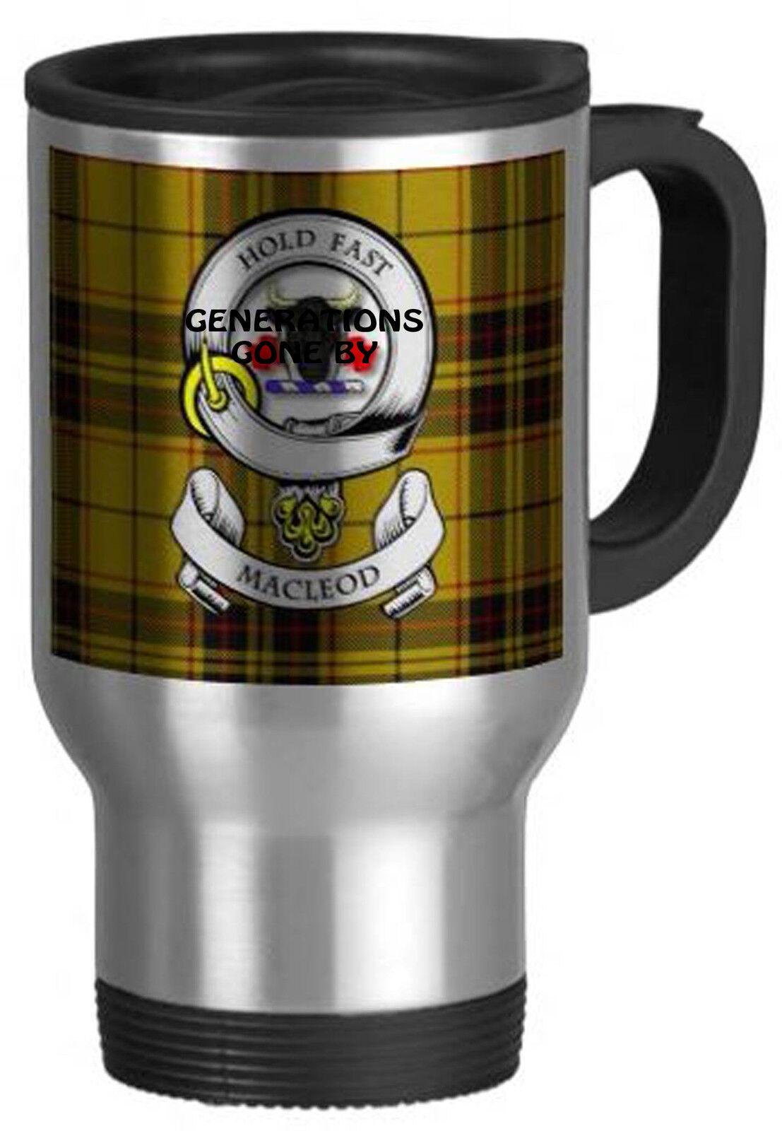 Mac leod clan clan clan tasse de voyage 02123f
