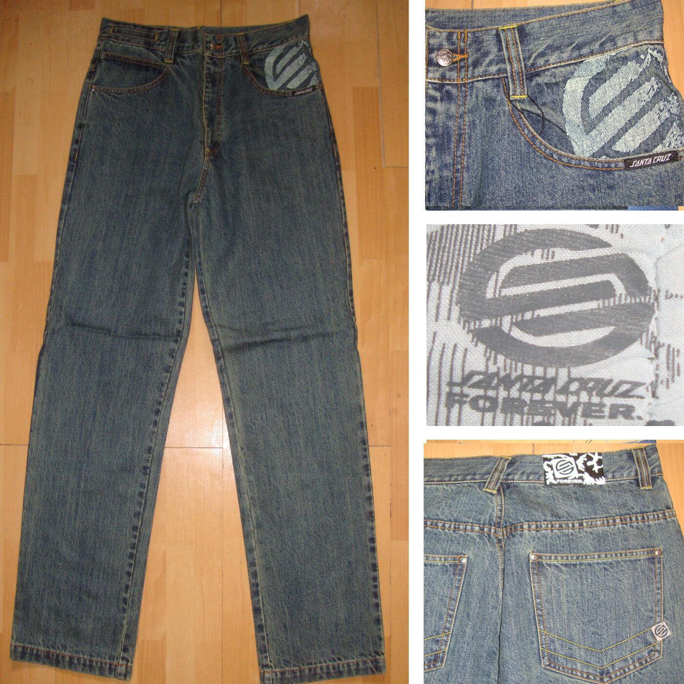 Santa Cruz - Scs Forever Jeans - Größe Ca. 81.3cm - 86.4cm -skate W Blau  | Überlegen
