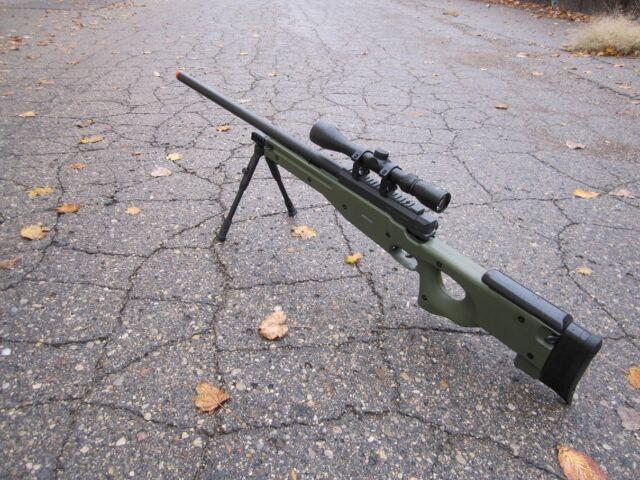 Great WELL Green Color  L96 AWP Airsoft Sniper Rifle W/ Scope +Bi-pod MB01GAB