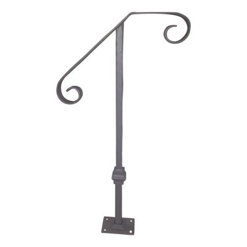 Fucina 1 to 2 Step Single Post Handrail Wrought Steel Single Post Railing Kit