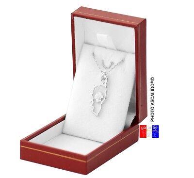Pendentif corse tete maure avec chaine en argent 925 massif neuf dans sa boite