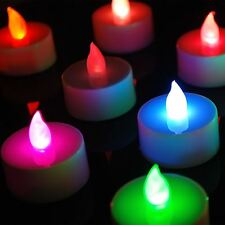 12pcs Fun Flameless Flickering LED Candles Tea Lights Tealights Party Decor Lamp