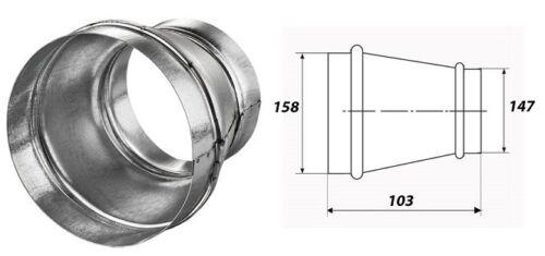 Riduzione riduzione Connettore fasciatoio PIEGA TUBO Dalap RM ø160//150mm 3126