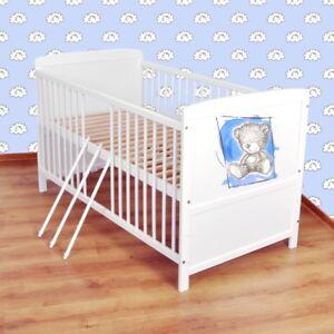 Babybett-Kinderbett-Juniorbett-umbaubar-140x70-Weiss-nr-31