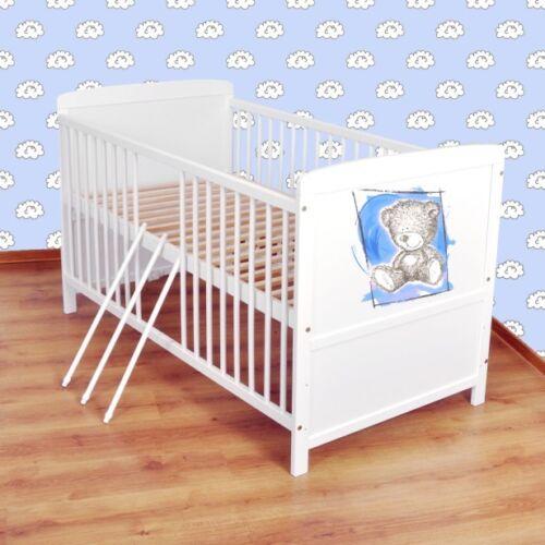 Babybett  Kinderbett Juniorbett umbaubar 140x70 Weiß nr 31
