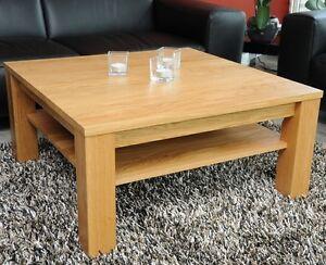 Details zu Couchtisch Lounge Wohnzimmertisch Eiche massiv Echtholz auf Maß  mit/ohne Ablage