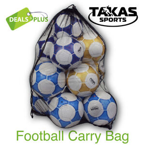 Details About Mesh Football Carry Bag Soccer Ball Sports Training Boxing Gloves Rugby Afl Goal