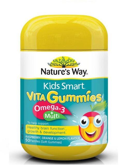 Nature's Way-Kids Smart Vita Gummies Omega 3+ Multi 50 Pastilles