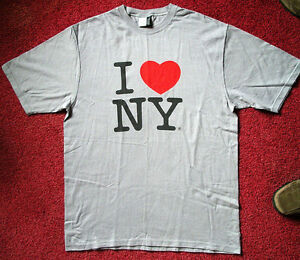 e4af2ef7b NEW Adult Size MEDIUM Beefy Silver I HEART (LOVE) NEW YORK Souvenir ...