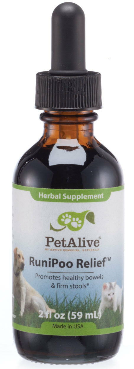 PetAlive RuniPoo Relief - All Natural Herbal Supplement Promotes Health Bowels