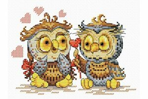 Cross-Stitch-Kit-Owl-039-s-love-M-087