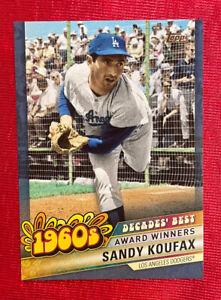 2020 Topps Update Decades' Best Blue SANDY KOUFAX #DB-20 Los Angeles