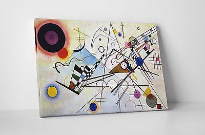 "Kandinsky Vierte Bauhausmappe Stretched Canvas Wall Art 30/""x20/"" or 20/""x16/"""