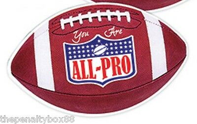 "Sports Mem, Cards & Fan Shop Magnetic Flexible New In Package 4 3/4"" X 3"" Amiable Jumbo Football Fridge Magnet"