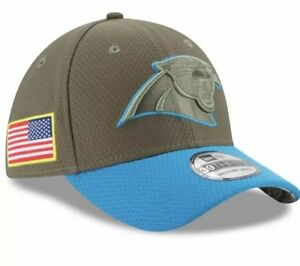 450299ef5 NEW ERA CAROLINA PANTHERS 2017 OLIVE SALUTE TO SERVICE 39THIRTY NFL ...