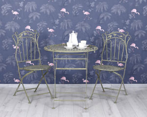 Details about Garden salons table two chairs set art nouveau metal garden  furniture- show original title