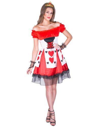 Herz-Dame Kostüm für Damen rot Cod.307490