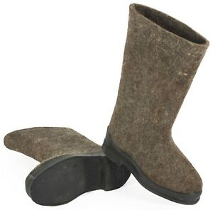 Russian traditional winter boots wool Valenki