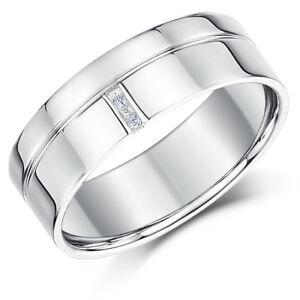 PALLADIUM-Bague-diamant-Rainures-Motif-950-PALLADIUM-bandeau-5mm-7mm
