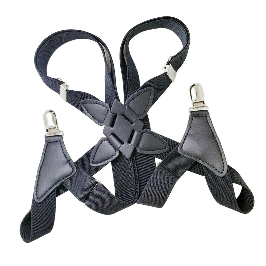 2.5cm Wide X-back Men's Suspender Harness with 2 Non- Side Clips