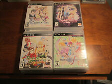 LOT 4 TALES OF XILLIA 1 & 2,GRACES F, SYMPHONIA CHRONICLES PS3 SONY SET COMPLETE