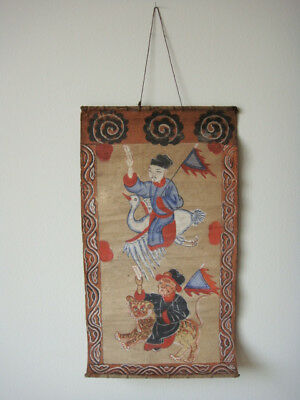 Antique Yao Ceremonial Painting 19th C Taoist Mien Tribal Religious Art Ebay