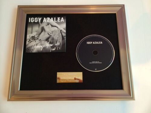CHANGE YOUR LIFE FRAMED CD PRESENTATION.RARE SIGNED//AUTOGRAPHED IGGY AZALEA